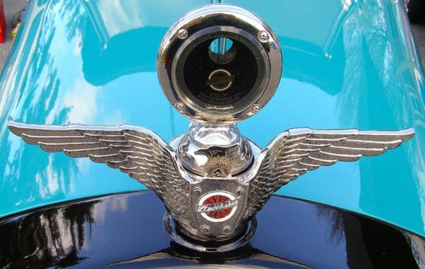 Painting - Hood Ornament by Alan Johnson