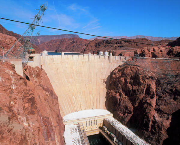 Wall Art - Photograph - Hoover Hydroelectric Dam by Martin Bond/science Photo Library