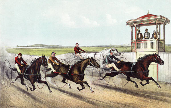 Wall Art - Painting - Horse Racing, C1891 by Granger