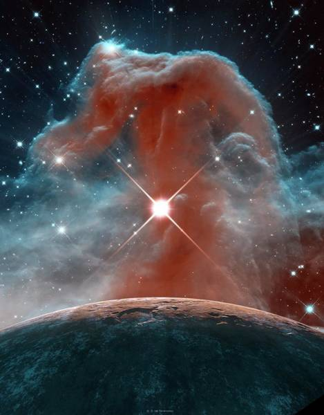 Infrared Radiation Photograph - Horsehead Nebula by Nasa,esa, And The Hubble Heritage Team (stsci/aura)/detlev Van Ravenswaay/science Photo Library