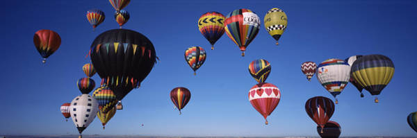 Fiesta Photograph - Hot Air Balloons Floating In Sky by Panoramic Images