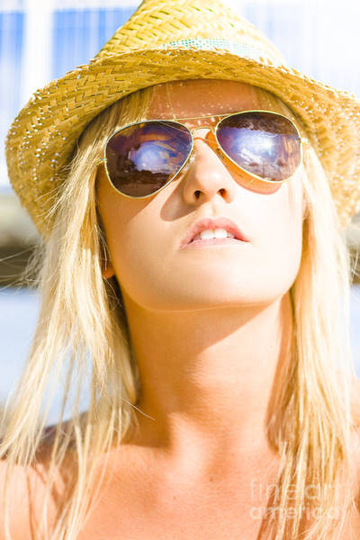 Lenses Photograph - Hot Beach Babe In Summer Fashion by Jorgo Photography - Wall Art Gallery