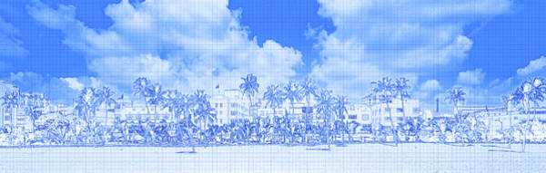 Miami-dade Photograph - Hotels On The Beach, Art Deco Hotels by Panoramic Images