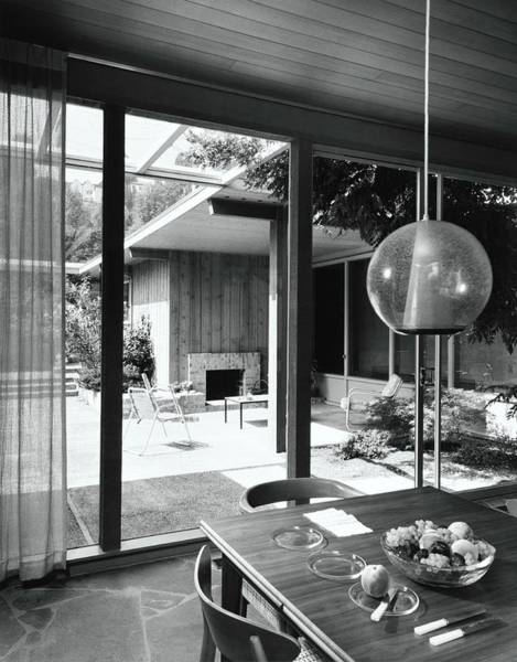 Table Setting Photograph - House Designed By Roland Terry And Philip Moore by Dearborn-Massar