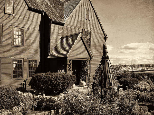 Nathaniel Photograph - House Of The Seven Gables by Lourry Legarde
