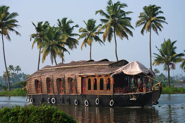 Houseboat Photograph - Houseboat On The Backwaters Of Kerala by Keren Su