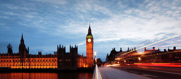 The Clock Tower Photograph - Houses Of Parliament And Big Ben At Dusk by Gary Yeowell