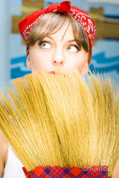 Broom Photograph - Housewife by Jorgo Photography - Wall Art Gallery
