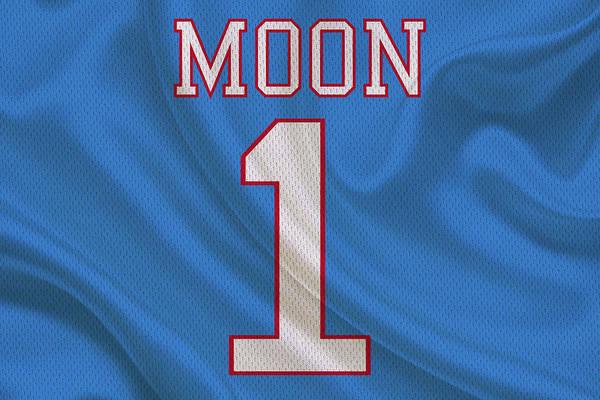 Super Moon Photograph - Houston Oilers Warren Moon by Joe Hamilton