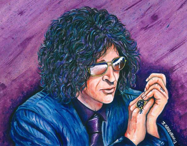 Howard Stern Wall Art - Painting - Howard Stern by Jeff Gregorich