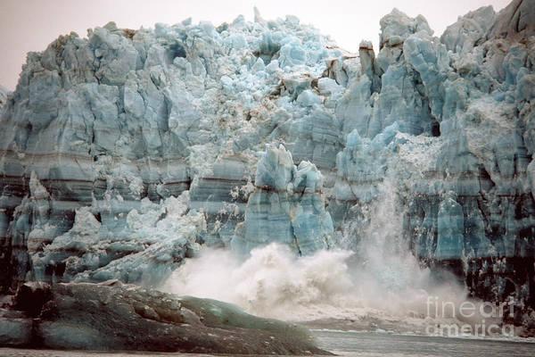 Photograph - Hubbard Glacier 1986 by Mark Newman