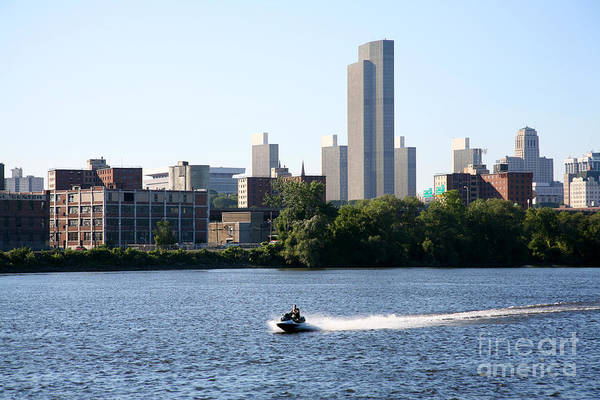 Alfred E. Smith Building Photograph - Hudson River And Albany Skyline by Bill Cobb