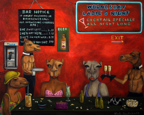 Wall Art - Painting - Hump Day by Leah Saulnier The Painting Maniac