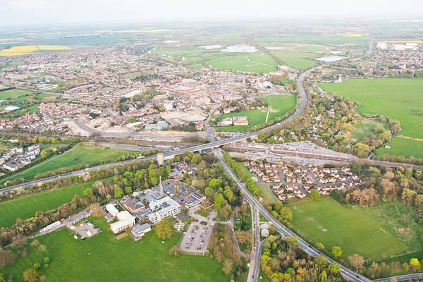 Road Map Photograph - Huntingdon by Tom Gowanlock
