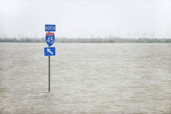 Tropical Cyclone Wall Art - Photograph - Hurricane Ike Flood Waters by Jim Reed Photography/science Photo Library