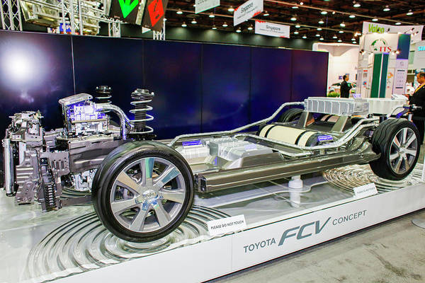 Technological Wall Art - Photograph - Hydrogen Fuel Cell Concept Car by Jim West