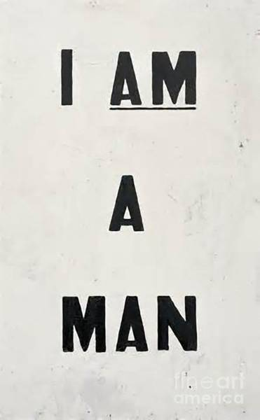 Man Wall Art - Painting - I Am A Man by Baltzgar