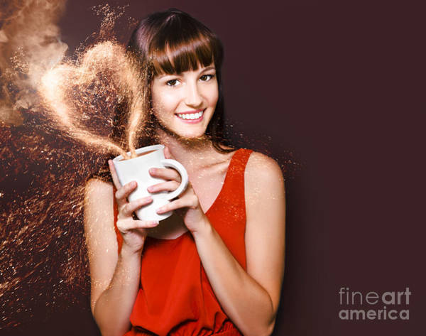 Promotion Photograph - I Love Hot Coffee by Jorgo Photography - Wall Art Gallery