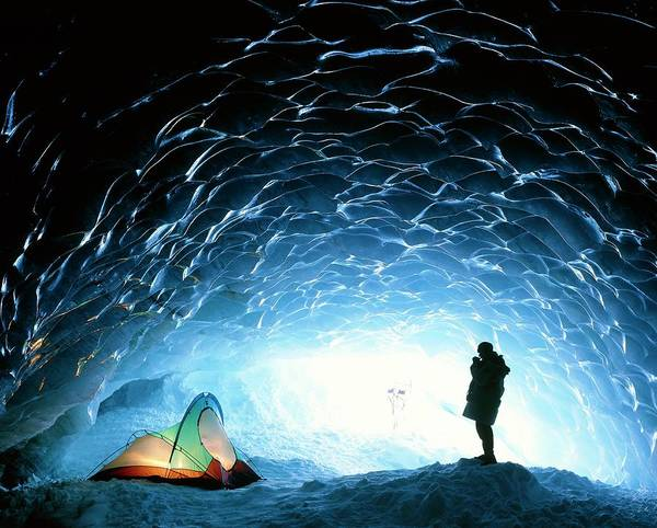 Wall Art - Photograph - Ice Cave Interior by David Nunuk