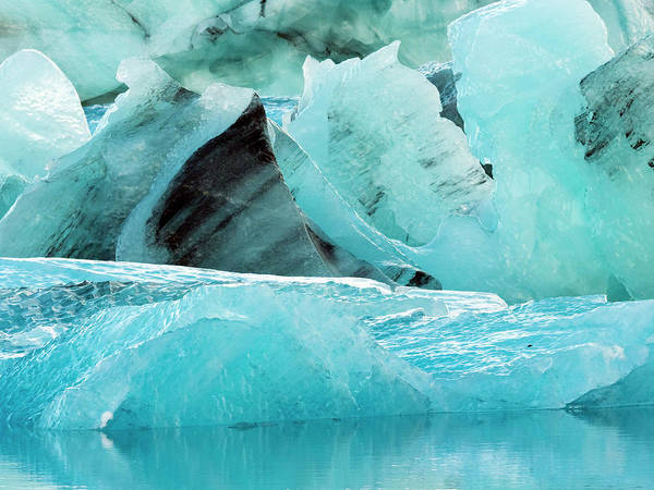 Wall Art - Photograph - Ice Chunks At Glacier Lagoon, Southern by Tamboly Photodesign