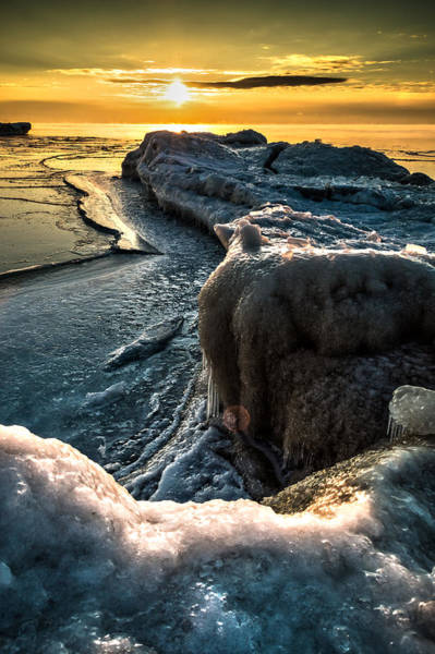 Photograph - Ice Flow by James  Meyer