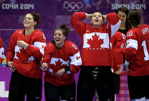 Sport Photograph - Ice Hockey - Winter Olympics Day 13 - by Bruce Bennett