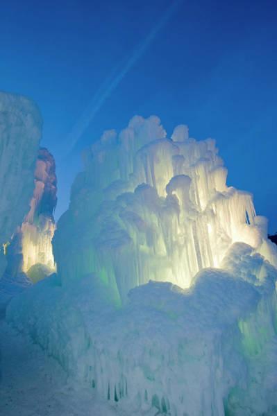 Midway Photograph - Ice Sculptures, Zermatt Resort, Midway by Howie Garber