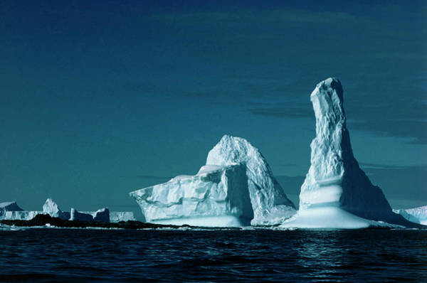 Eroded Wall Art - Photograph - Icebergs by Simon Fraser/science Photo Library