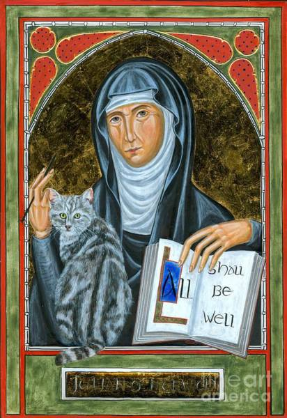 Illumination Painting - Icon Of Julian Of Norwich by Juliet Venter
