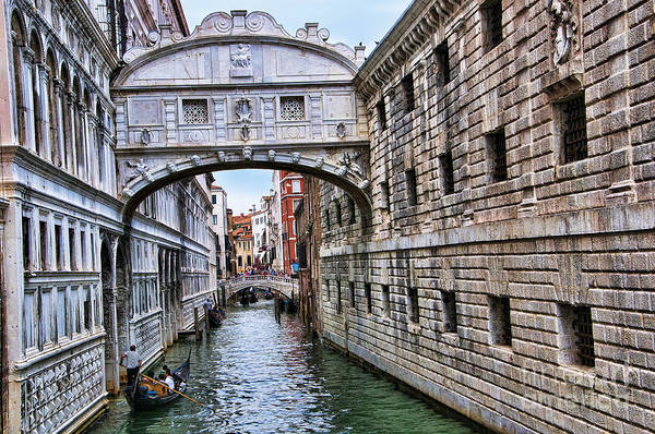 Lion Of St Mark Photograph - Iconic Bridge Of Sighs by Brenda Kean
