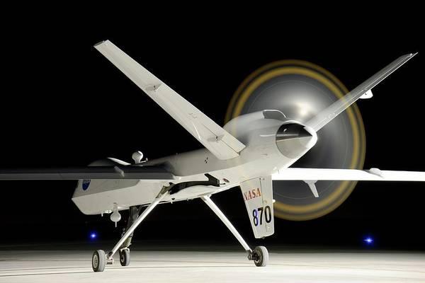 Airbase Photograph - Ikhana Unmanned Aerial Vehicle by Nasa, Tony Landis/science Photo Library