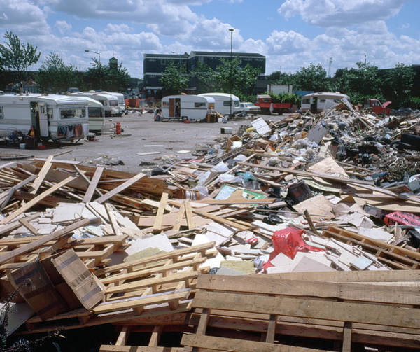 Caravan Photograph - Illegal Rubbish Dump by Robert Brook/science Photo Library