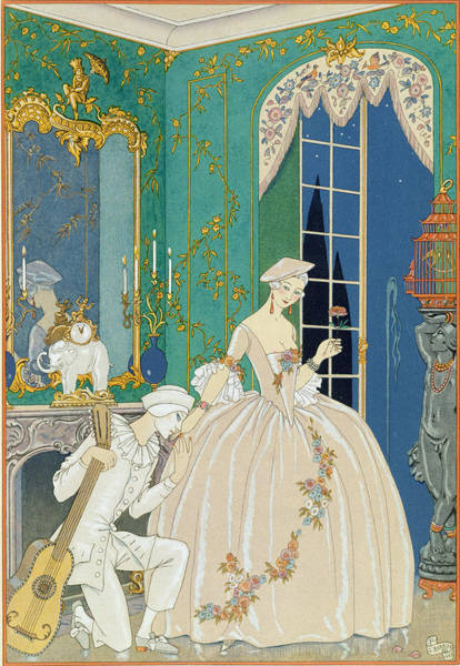 Fete Wall Art - Painting - Illustration For 'fetes Galantes' by Georges Barbier