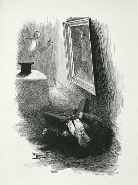 First Drawing - Illustration From The Picture Of Dorian by Paul Thiriat