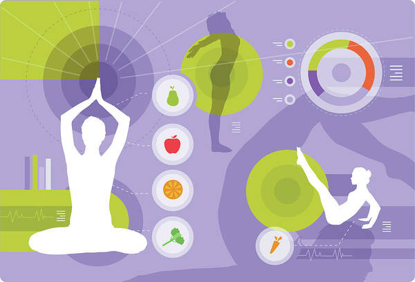 Wall Art - Photograph - Illustration Of Healthy Lifestyle by Fanatic Studio / Science Photo Library