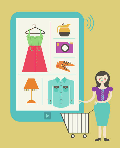 Wall Art - Photograph - Illustration Of Online Shopping by Fanatic Studio / Science Photo Library