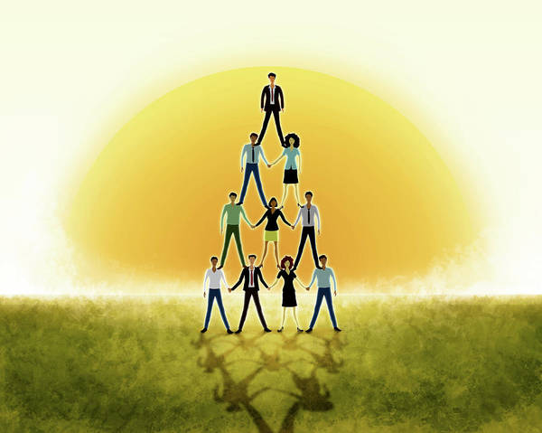 Wall Art - Photograph - Illustration Of Teamwork by Fanatic Studio / Science Photo Library