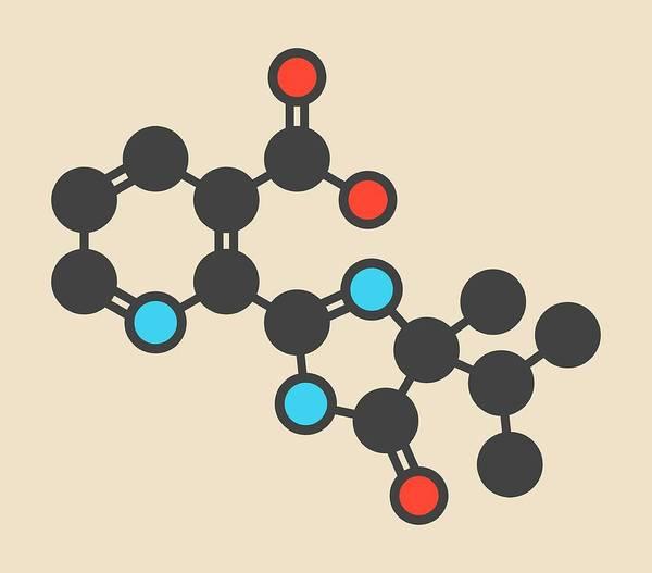Wall Art - Photograph - Imazapyr Herbicide Molecule by Molekuul/science Photo Library
