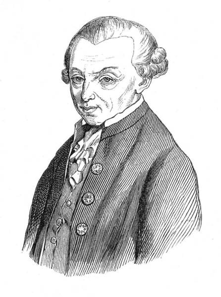 Wall Art - Drawing - Immanuel Kant  German Philosopher by Mary Evans Picture Library