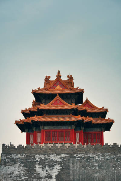 Photograph - Imperial Palace Corner Tower by Songquan Deng