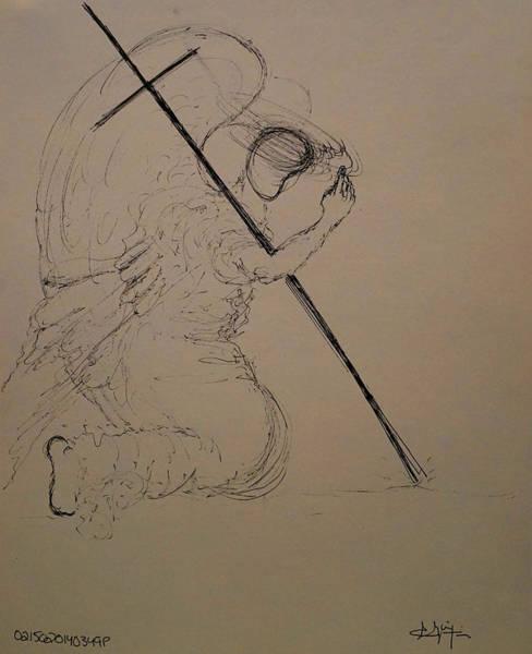 Drawing - In Prayer by Giorgio Tuscani