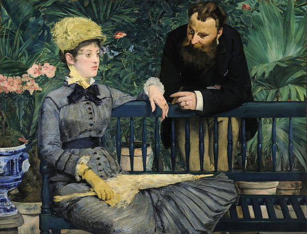 Wall Art - Painting - In The Conservatory by Edouard Manet