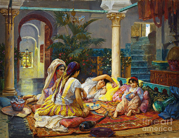 Trimming Painting - In The Harem by Celestial Images