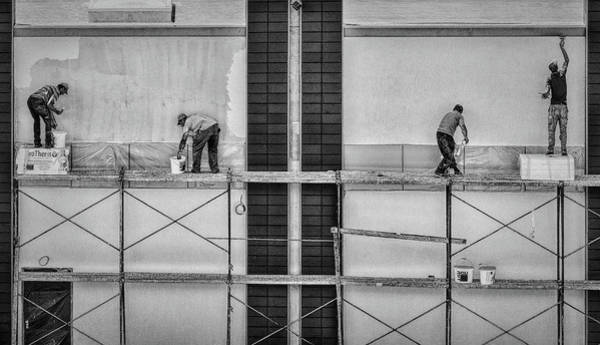 Scaffold Photograph - In The Rectangles by Gabriela Pantu