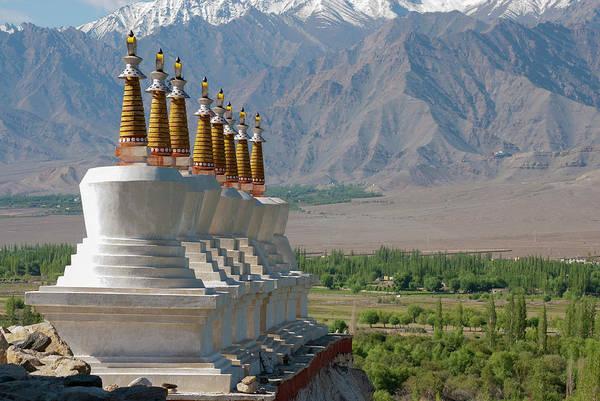 Clark Photograph - India, Jammu & Kashmir, Ladakh, White by Ellen Clark