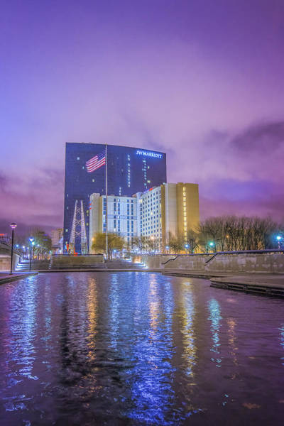 Photograph - Indianapolis Indiana Jw Marriott Sunrise by David Haskett II