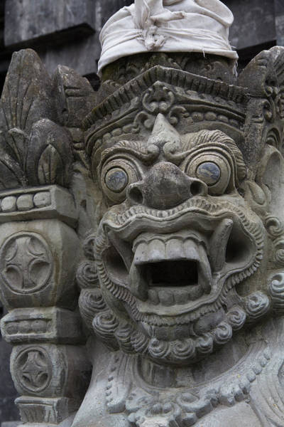 Goa Photograph - Indonesia, Bali Temple Statue by Emily Wilson