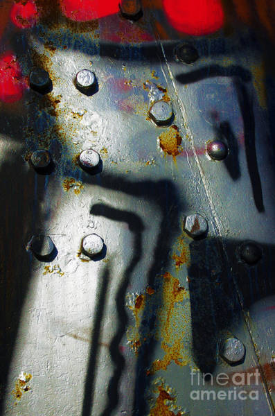 Corrosion Photograph - Industrial Detail by Carlos Caetano
