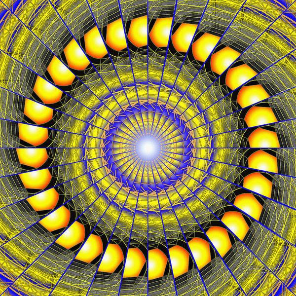 Mixed Media - Infinity Gateway Nine Kaleidoscope by Derek Gedney