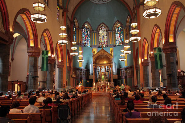 Photograph - Inside The Church Of St Paul The Apostle  by Steven Spak